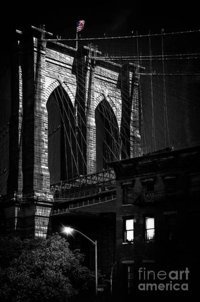Wall Art - Photograph - Brooklyn Bridge From Old Fulton Street by Delphimages Photo Creations