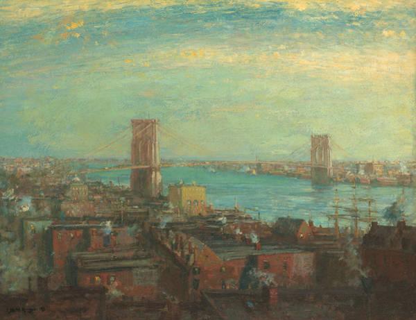 Painting - Brooklyn Bridge by Henry Ward Ranger