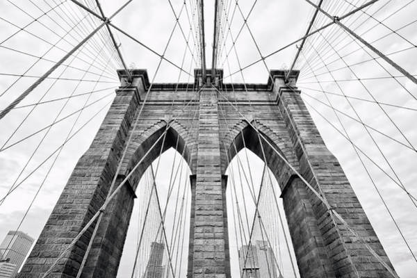Cable-stayed Bridge Photograph - Brooklyn Bridge Icon by Original Photography By Neos Design - Cory Eastman