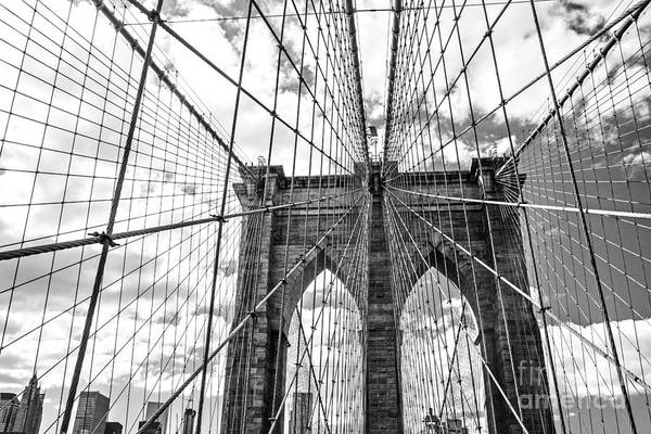 Landmark Wall Art - Photograph - Brooklyn Bridge, New York, Usa by Irina Kosareva