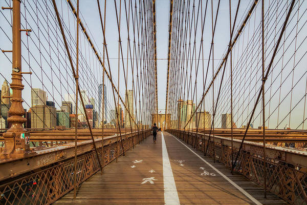 Photograph - Brooklyn Bridge Nyc Skyline by Susan Candelario