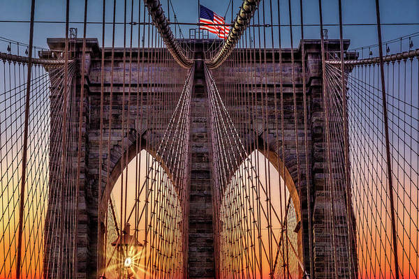 Photograph - Brooklyn Bridge Nyc Sunrise by Susan Candelario