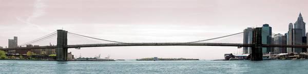 Long Island City Photograph - Brooklyn Bridge Panoramic by Belterz