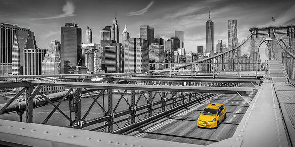 Wall Art - Photograph - Brooklyn Bridge View - Panorama by Melanie Viola