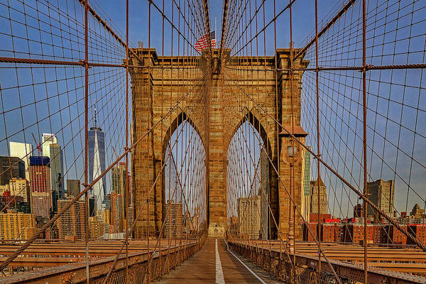 Wall Art - Photograph - Brooklyn Bridge View To Wtc Nyc by Susan Candelario