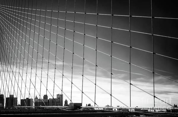 Photograph - Brooklyn Bridge Web New York City by John Rizzuto