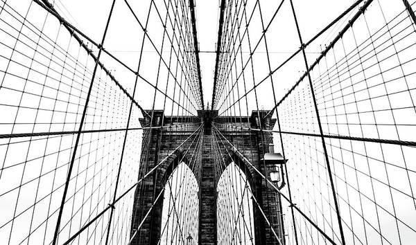 Wall Art - Photograph - Brooklyn Bridge Web by Nicklas Gustafsson