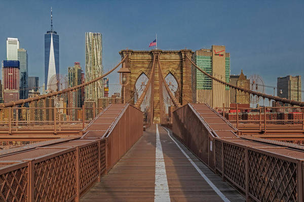 Photograph - Brooklyn Bridge Wtc Nyc by Susan Candelario