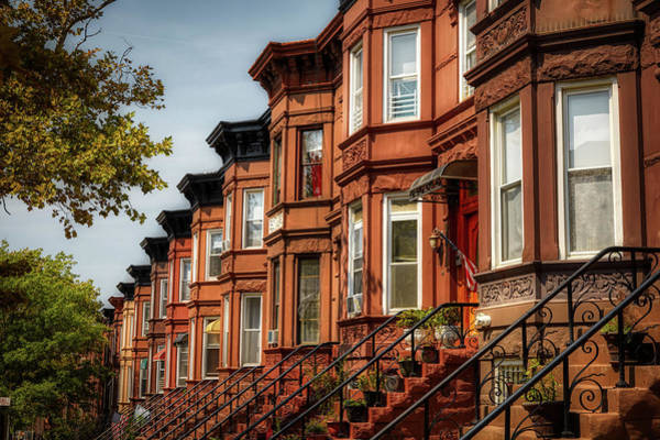 Wall Art - Photograph - Brooklyn Brownstones by Library Of Congress