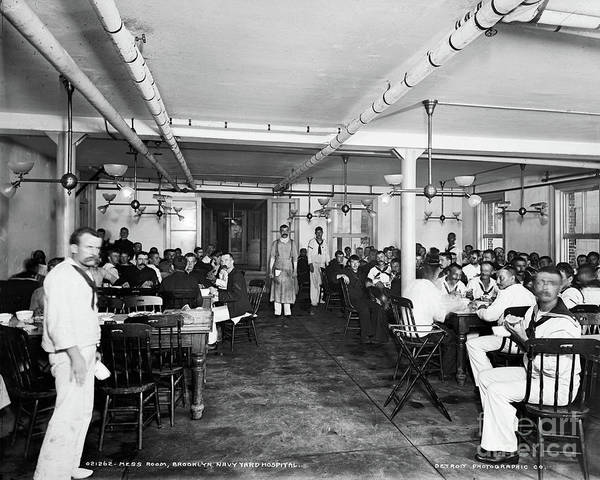 Photograph - Brooklyn Navy Yard Hospital by Granger