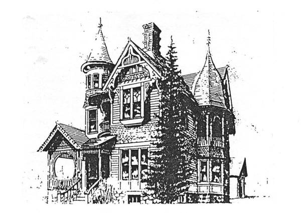 Drawing - Brooks Hotel, Corvallis, Montana by Kevin Heaney