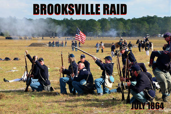Wall Art - Photograph - Brooksille Raid Poster Work A by David Lee Thompson