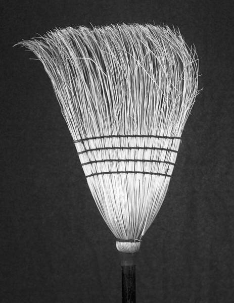 Photograph - Broom B/w by Rudy Umans