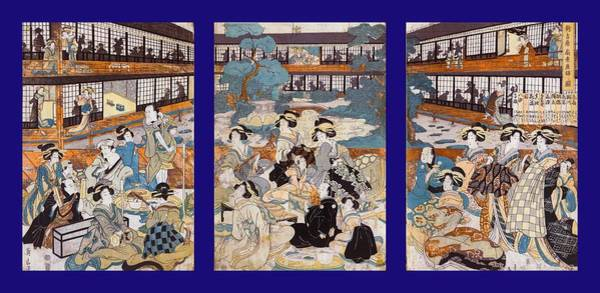 Photograph - Brothel House Of Yoshiwara - Triptych Panel-2 by Paul W Faust - Impressions of Light