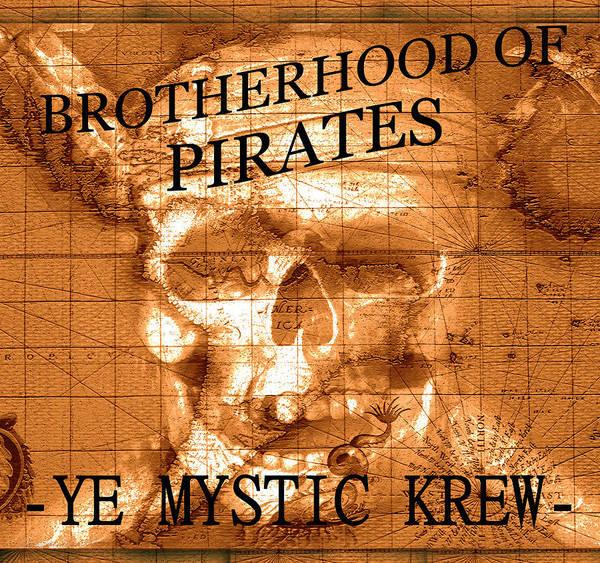 Wall Art - Mixed Media - Brotherhood Of Pirates Design A by David Lee Thompson