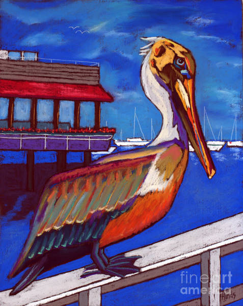 Wall Art - Pastel - Brown Pelican On The Bay by David Hinds