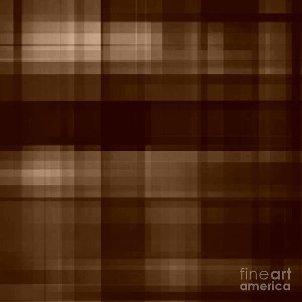 Digital Art - Brown Plaid by Rachel Hannah
