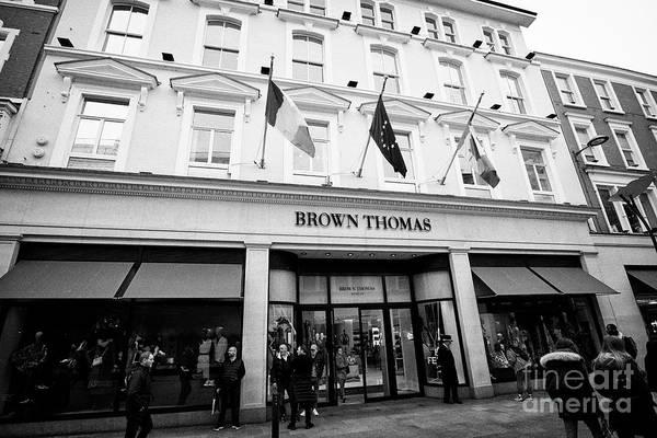 Wall Art - Photograph - Brown Thomas Department Store On Grafton Street Dublin Republic Of Ireland by Joe Fox