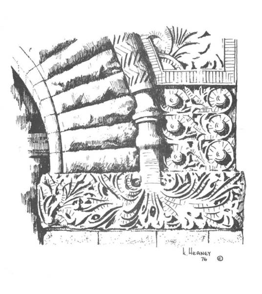 Drawing - Brownstone Detail, Court House, Helena, Montana. by Kevin Heaney