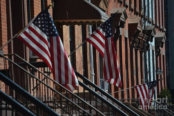 Wall Art - Photograph - Brownstone Flags by Anthony Butera