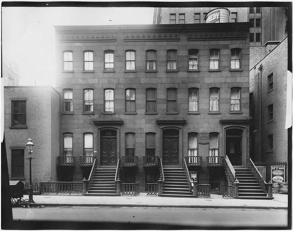 Photograph Photograph - Brownstones by The New York Historical Society