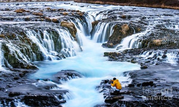 Wall Art - Photograph - Bruarfoss,iceland With The Photographer by Cusycon