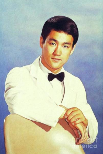 Martial Arts Painting - Bruce Lee, Actor by John Springfield