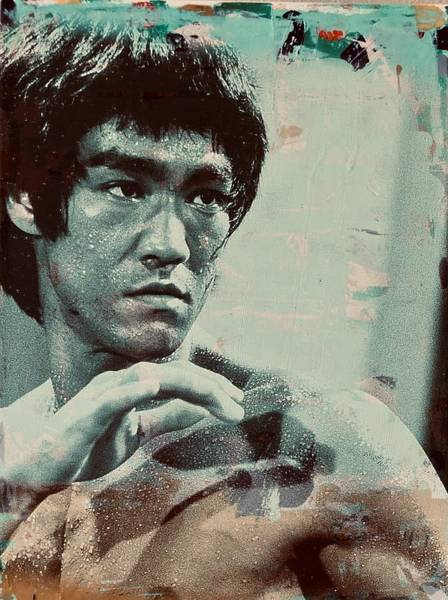 Mixed Media - Bruce Lee by Jayime Jean