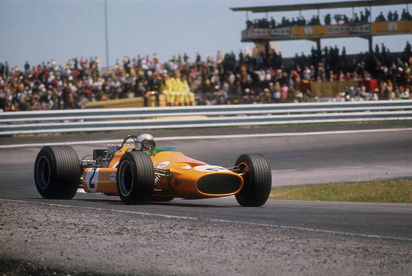 Motor Sport Photograph - Bruce Mclarens Mclaren-ford, Spanish by Heritage Images