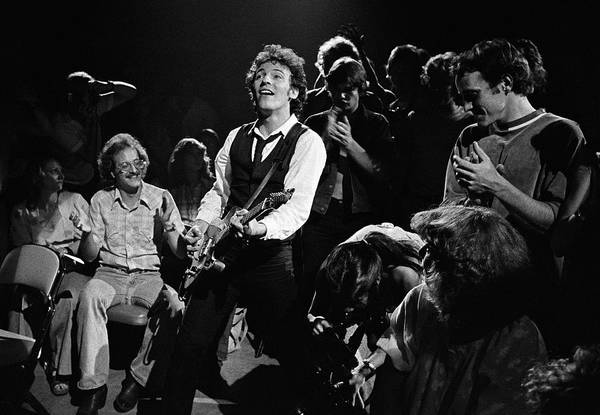 Photograph - Bruce Springsteen In Concert by George Rose