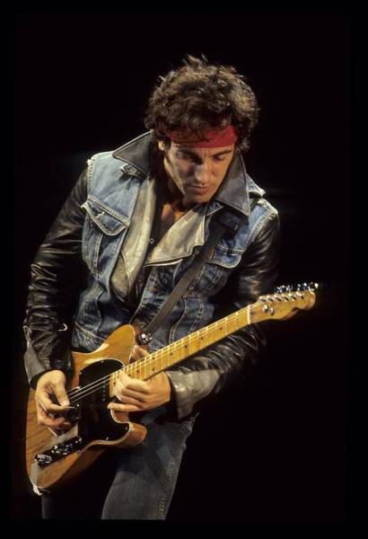 1980 1989 Photograph - Bruce Springsteen Performs Live by Richard Mccaffrey