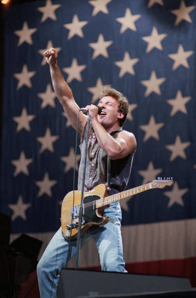 Photograph - Bruce Springsteen Singing On Stage by Bettmann