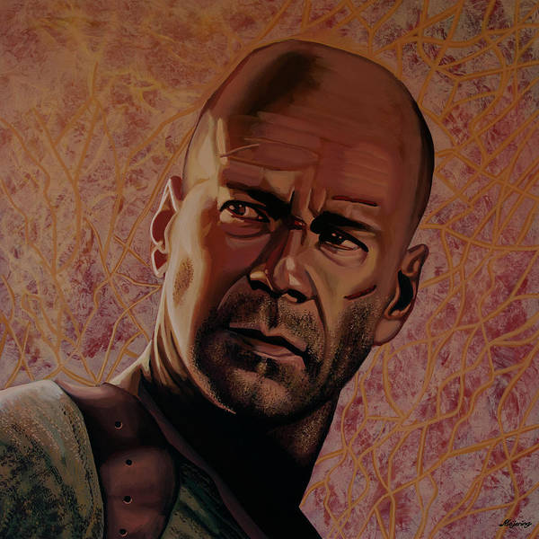 Painting - Bruce Willis Painting by Paul Meijering