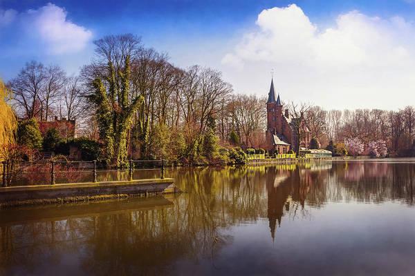 In Bruges Photograph - Bruges Belgium Minnewater Lake  by Carol Japp