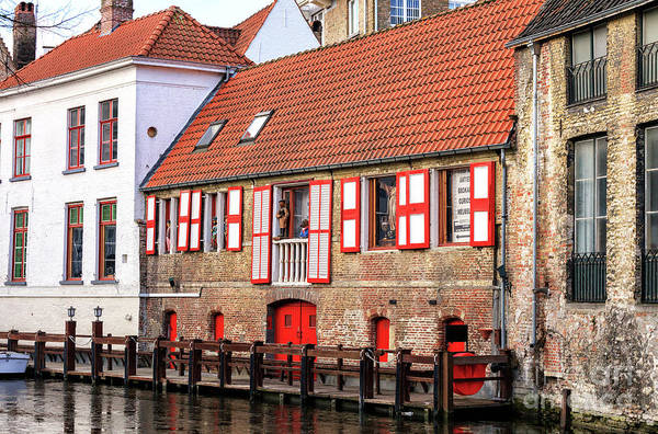 Wall Art - Photograph - Bruges Canal Scene Number Four by John Rizzuto