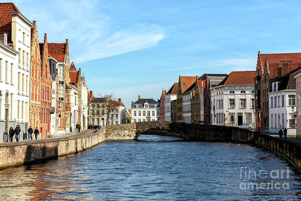 Wall Art - Photograph - Bruges Canal Scene Number Nine by John Rizzuto