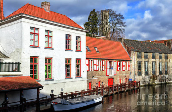 Wall Art - Photograph - Bruges Canal Scene Number Six by John Rizzuto