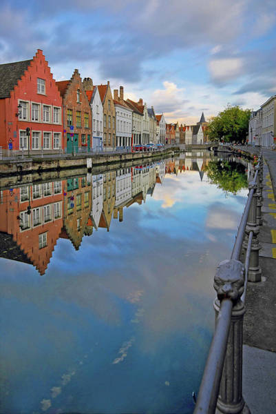 In Bruges Photograph - Bruges Reflection by Photography Aubrey Stoll