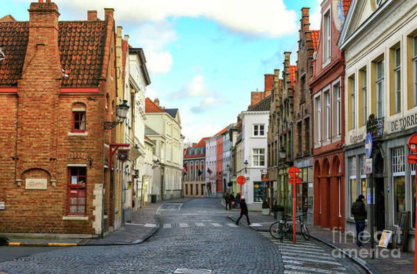 Wall Art - Photograph - Bruges Street Scene In Belgium by John Rizzuto
