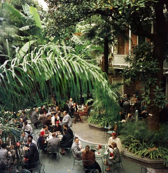 Vertical Photograph - Brunch At Brennans by Slim Aarons