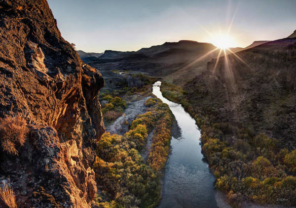 Photograph - Bruneau River by Leland D Howard