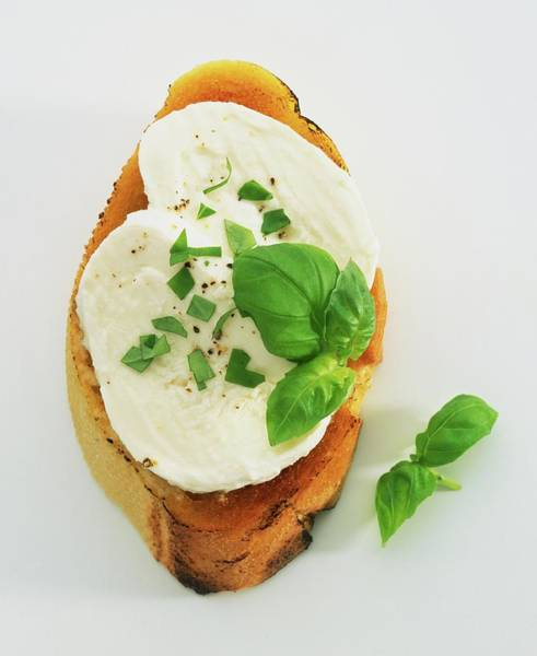 Wall Art - Photograph - Bruschetta Topped With Mozarella And by Dave King
