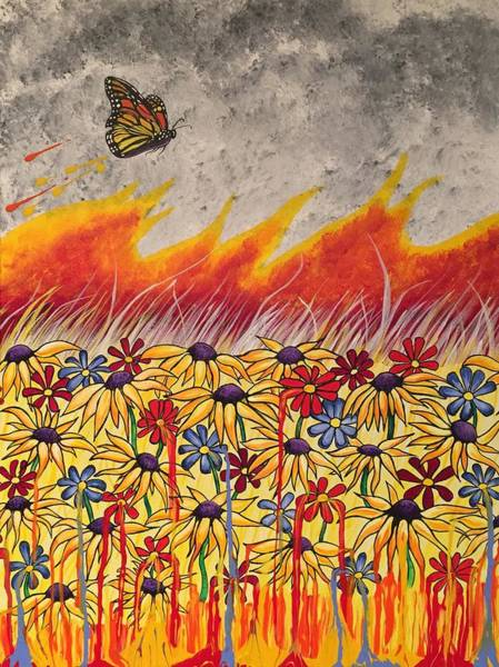 Painting - Brushfire by Sonja Jones