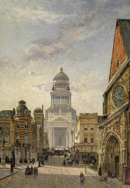 Wall Art - Painting - Brussels by Gustave Walckiers