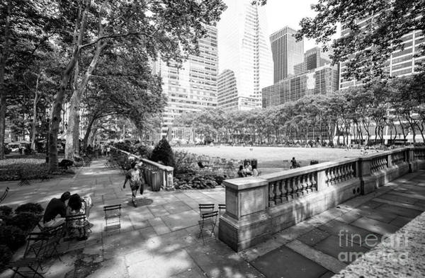 Wall Art - Photograph - Bryant Park Angles New York City by John Rizzuto