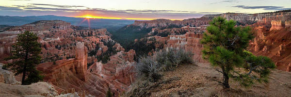 Wall Art - Photograph - Bryce Canyon National Park Sunrise 6 Panorama - Utah by Brian Harig