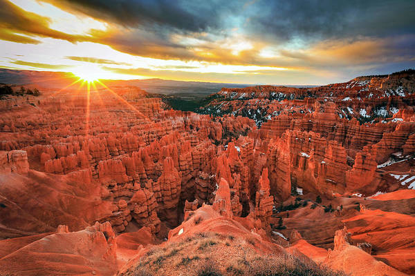 Photograph - Bryce Canyon Spring Sunrise by Johnny Adolphson