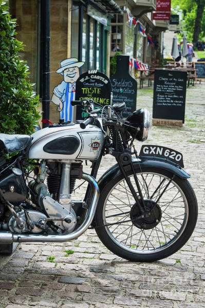 Photograph - Bsa Silver Star In Burford by Tim Gainey