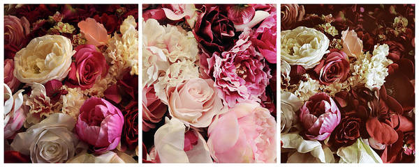 Wall Art - Photograph - Rose Collage Triptych by Jessica Jenney