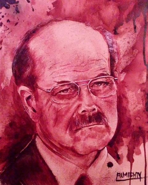 Serial Killer Painting - Btk Dennis Rader Port Fresh Blood by Ryan Almighty